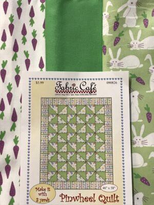 3 yard bunny purple carrot fabric quilt kit