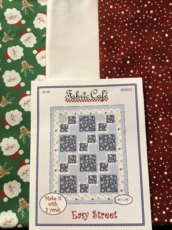 3 yards Christmas Quilt kit fabric