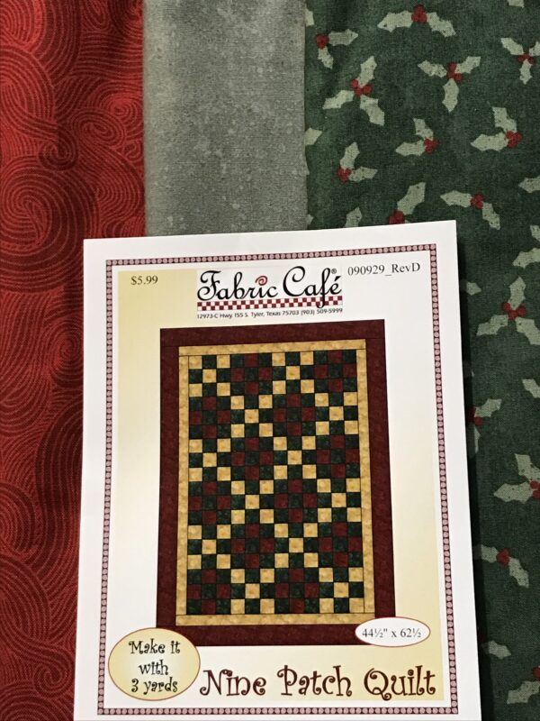 holiday Christmas fabric quilt kit 3 yards