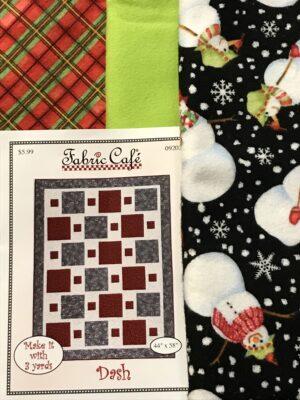 snowman 3 yard fabric quilt kit