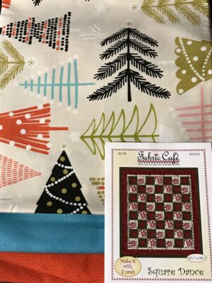 Christmas tree fabric quilt kit