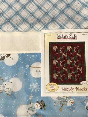 3 yard snowman quilt fabric kit