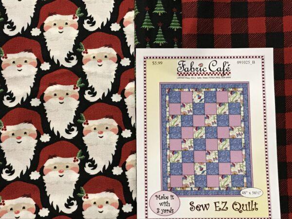 Santa 3 Yd Quilt Kit - Kris Kringle - Sew Ez Quilt